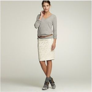J. Crew Golden bubbles pencil skirt